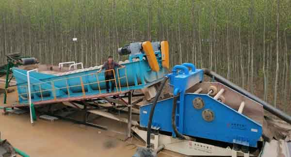 small scale sand washer
