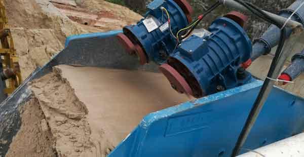Fine sand recovery machine